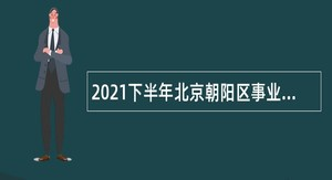 2021下半年北京朝阳区事业单位招聘考试公告(198人)